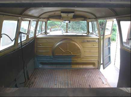 Kombi Fromtailgate on Karmann Ghia Interior