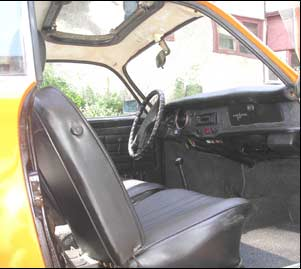 karmann ghia interior