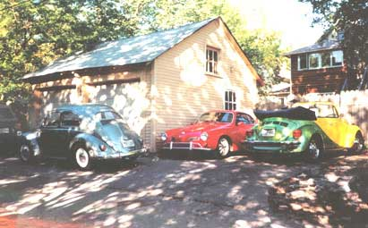 Karmann Ghia and VW Beetles