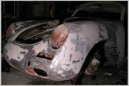 porsche restoration welding done