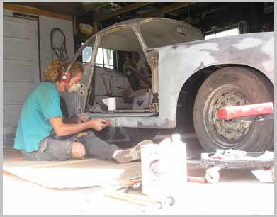 adding filler to my porsche 356