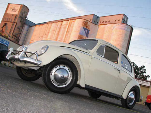 White 1963 VW Beetle Convertible