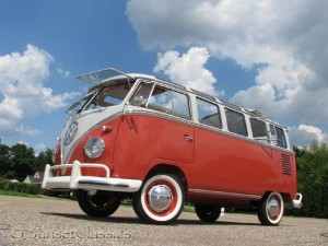 restored 1961 23-Window Volkswagen Bus